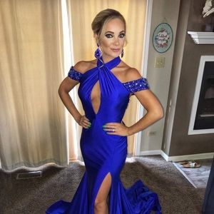 Mac duggal pageant couture size 4 blue